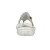Pánské kožené bílé žabky bata, bílá, 866-1637 - 15