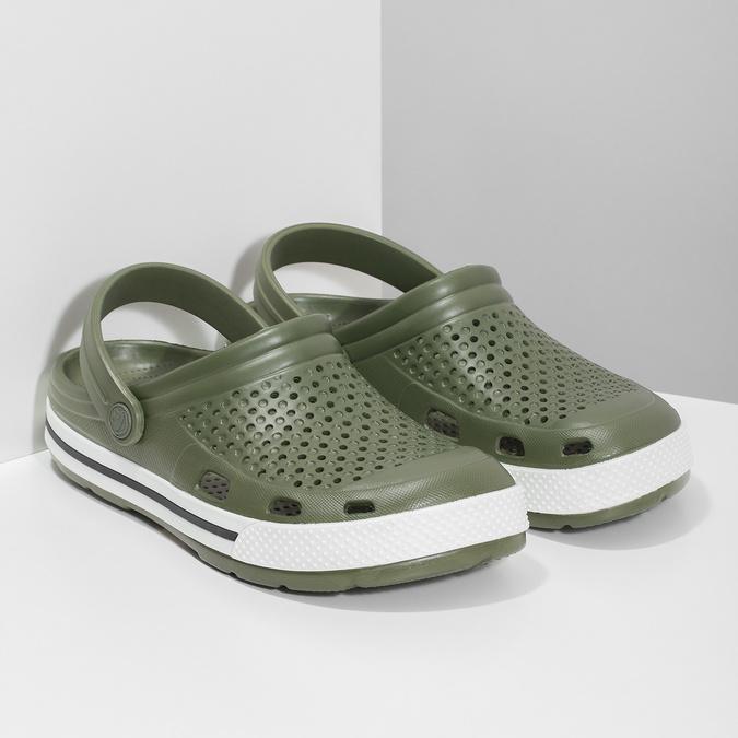 Pánské sandály typu Clogs khaki coqui, khaki, 872-7656 - 26