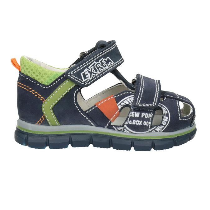 Chlapecké kožené sandály s potiskem mini-b, modrá, 166-9604 - 16