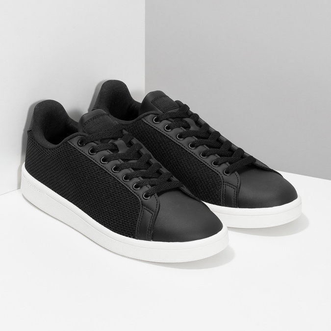 Černé pánské tenisky se síťovinou adidas, černá, 809-6395 - 26