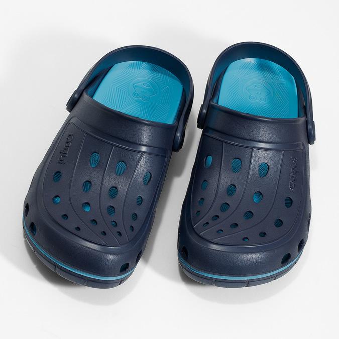 Modré dětské sandály typu Clogs coqui, modrá, 372-9656 - 16