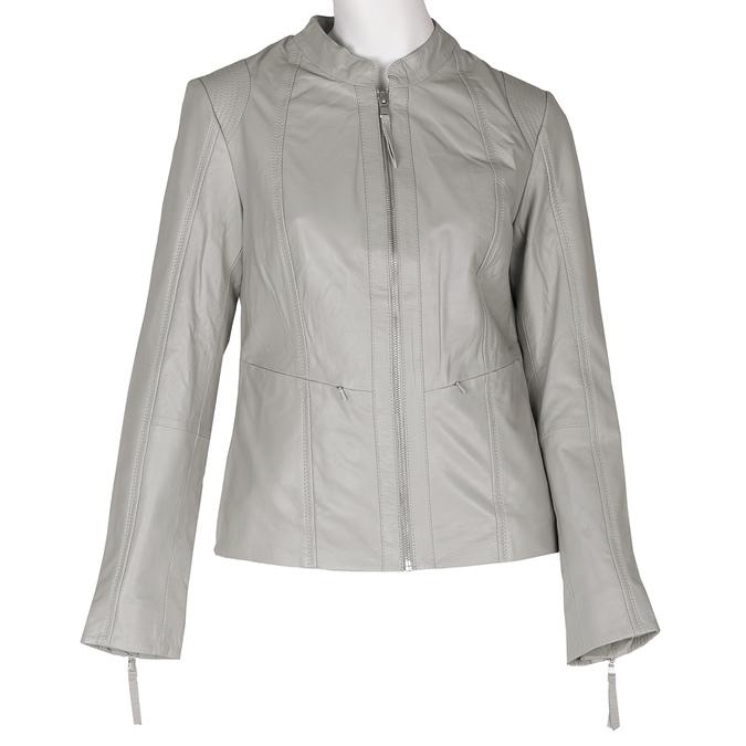 Šedá kožená bunda dámská bata, šedá, 974-2180 - 13