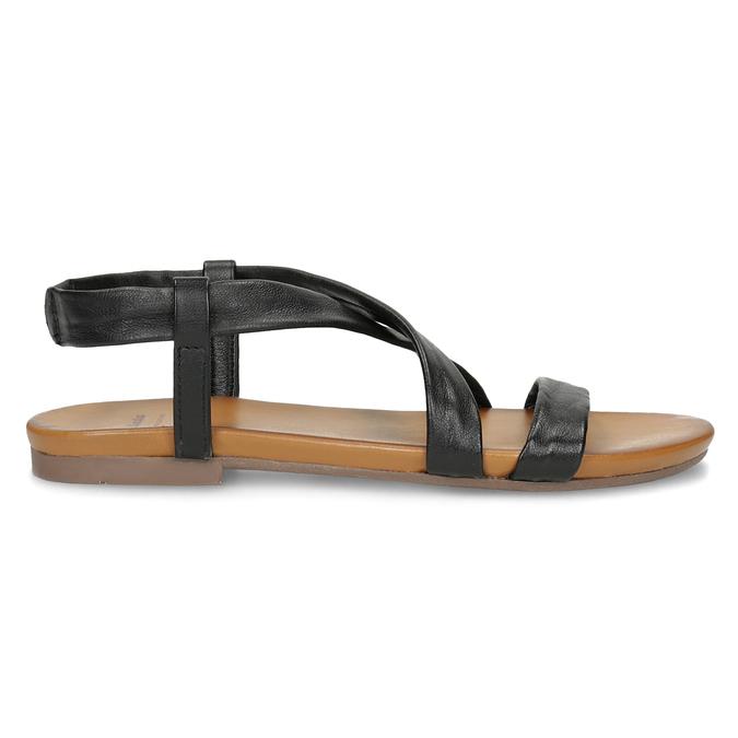 Černé kožené sandály dámské bata, černá, 566-6635 - 19
