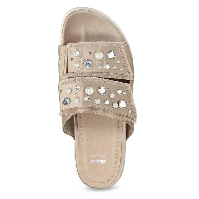 Nazouváky s kamínky a perličkami zlaté bata, béžová, 569-8618 - 17