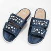Modré nazouváky s kamínky a perličkami bata, modrá, 569-9618 - 16