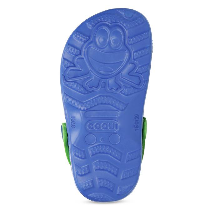 Modré dětské sandály se žabičkou coqui, modrá, 272-9650 - 18