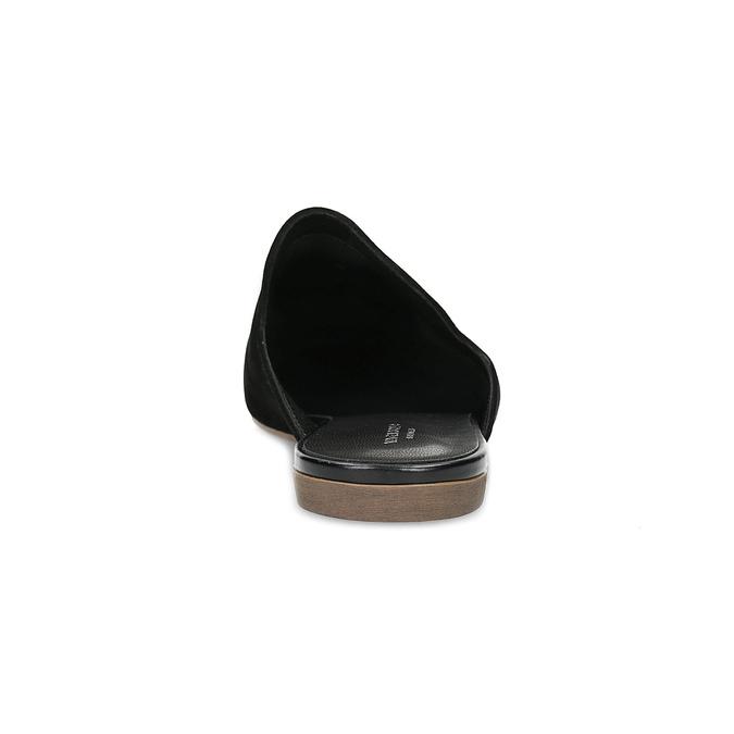 Pantofle z broušené kůže černé vagabond, černá, 573-6004 - 15