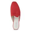 Pantofle z broušené kůže červené vagabond, červená, 573-5004 - 17