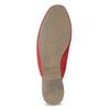 Pantofle z broušené kůže červené vagabond, červená, 573-5004 - 18
