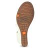 Bílé kožené sandály na klínku s pružením flexible, bílá, 666-1618 - 18