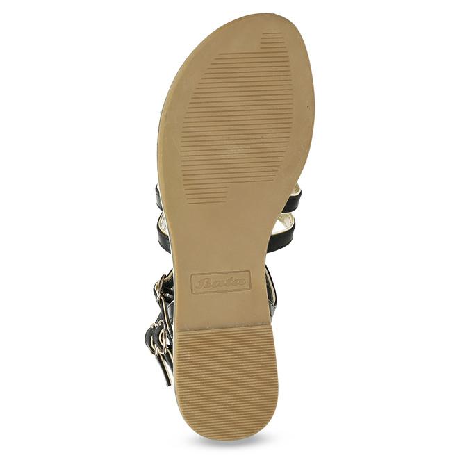 Dámské černo-zlaté sandály bata, černá, 561-6620 - 18