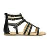 Dámské černo-zlaté sandály bata, černá, 561-6620 - 19