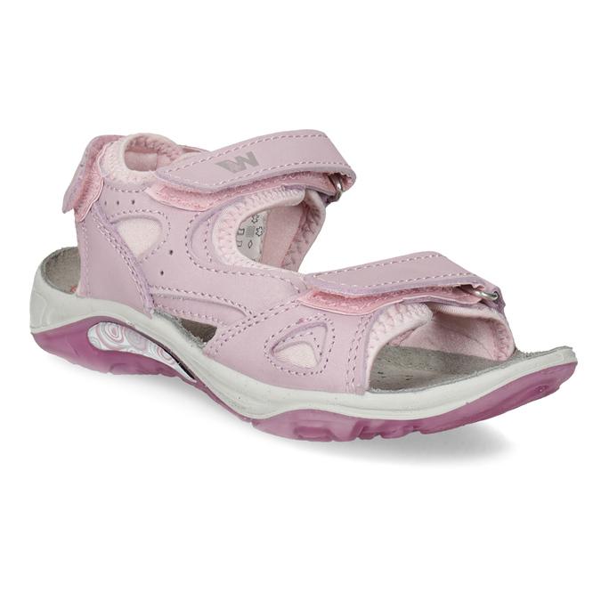 Dívčí kožené sandály v Outdoor stylu weinbrenner, růžová, 366-5606 - 13