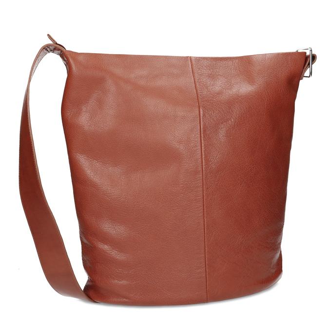 Kožená kabelka se širokým popruhem hnědá vagabond, hnědá, 966-4066 - 13