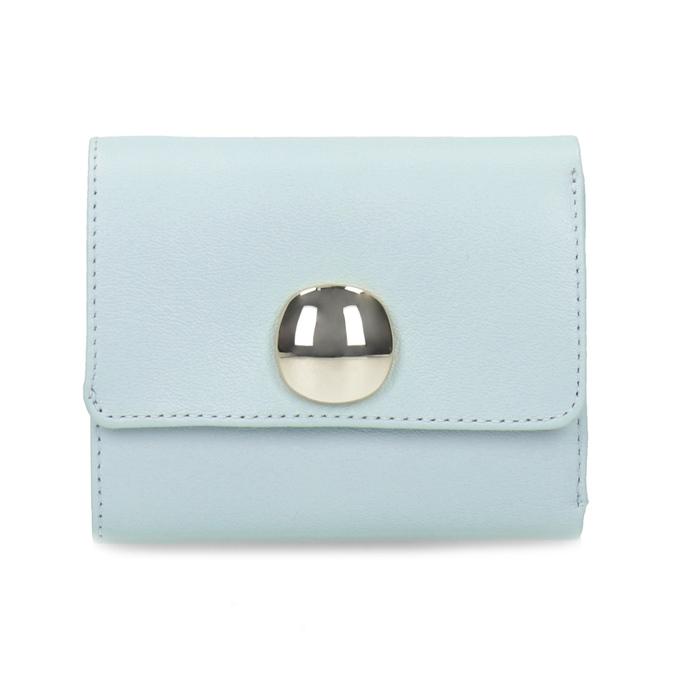 Modrá kožená peněženka se zlatým zapínáním vagabond, modrá, 966-9063 - 26