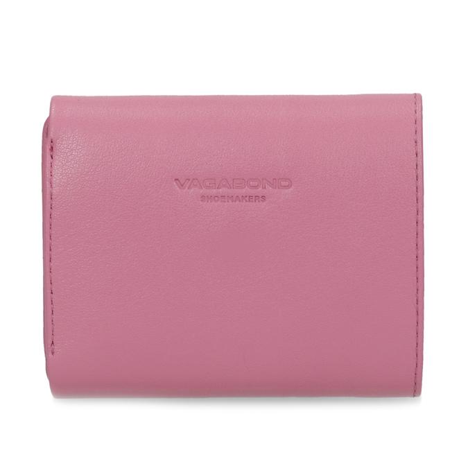 Růžová kožená peněženka se zlatým zapínáním vagabond, růžová, 966-5063 - 16