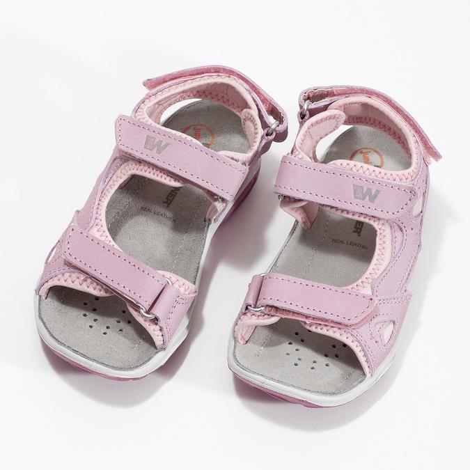 Dívčí kožené sandály v Outdoor stylu weinbrenner, růžová, 366-5606 - 16