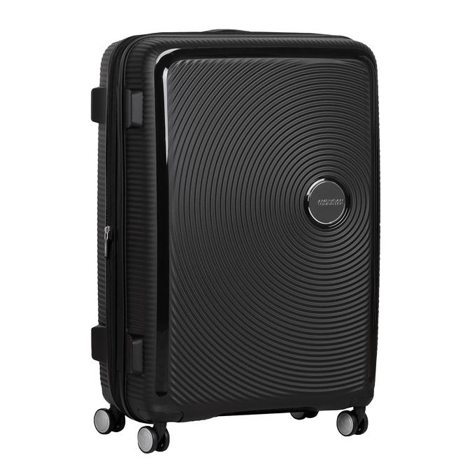 Černý kufr se skořepinou na kolečkách american-tourister, černá, 960-6613 - 13