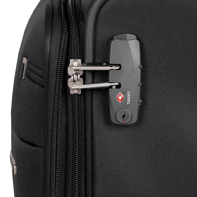 Černý textilní kufr samsonite, černá, 960-6039 - 15