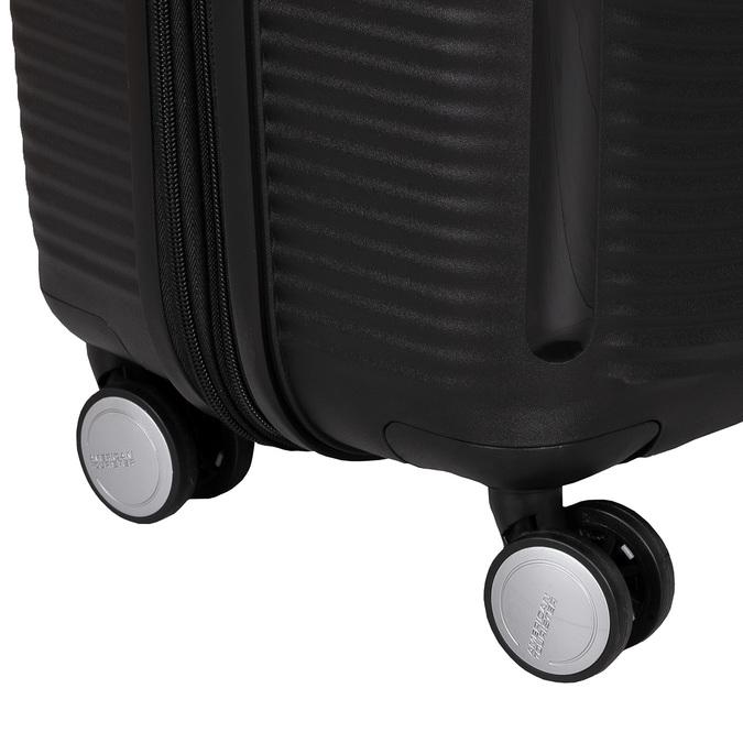 Černý kufr se skořepinou na kolečkách american-tourister, černá, 960-6613 - 16