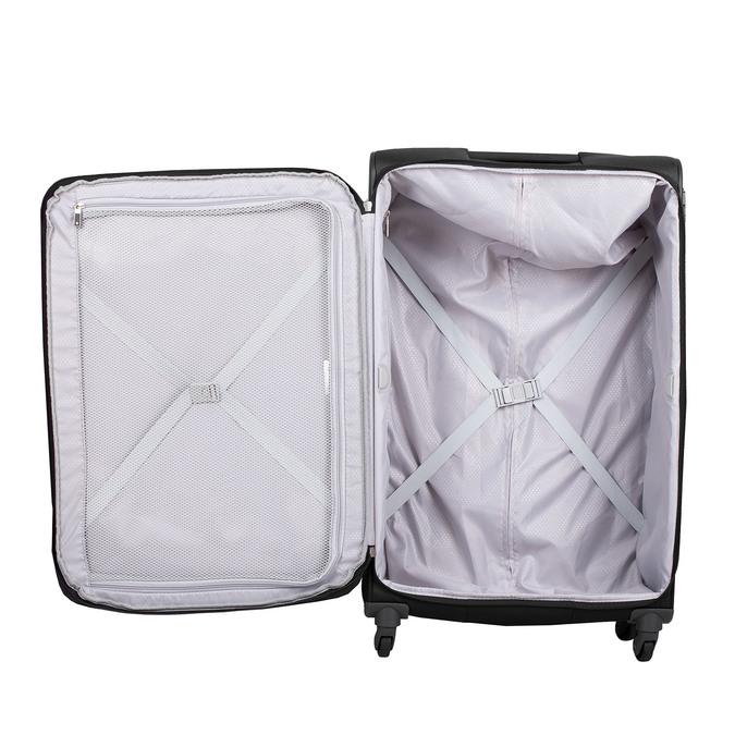 Černý kufr na kolečkách textilní samsonite, černá, 960-6041 - 17