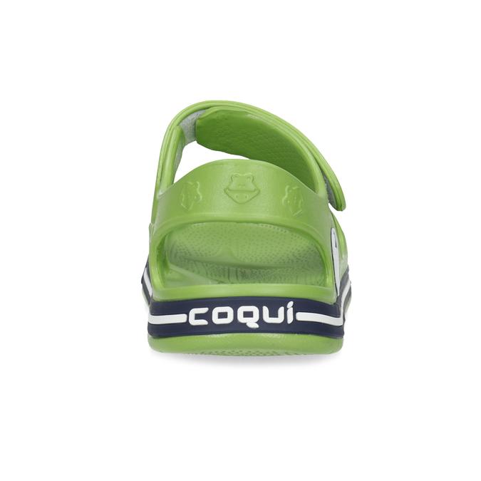 Dětské zelené sandály chlapecké coqui, zelená, 372-7658 - 15