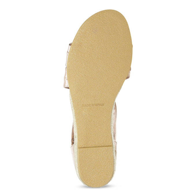 Dámské rose gold sandály na klínku bata, zlatá, 566-5649 - 18