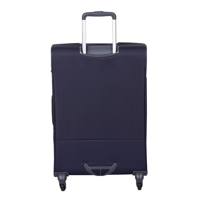 Tmavě modrý texilní kufr na kolečkách větší samsonite, modrá, 960-9042 - 26