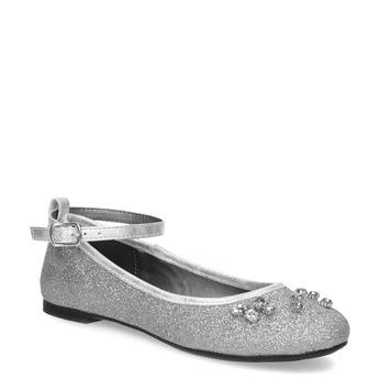 Stříbrné dívčí baleríny se třpytkami mini-b, stříbrná, 329-2294 - 13