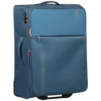 Velký tyrkysový textilní kufr na kolečkách roncato, modrá, 969-9719 - 13