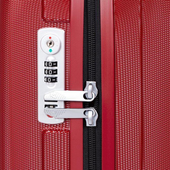 Červený skořepinový kufr na kolečkách malý roncato, červená, 960-5738 - 15
