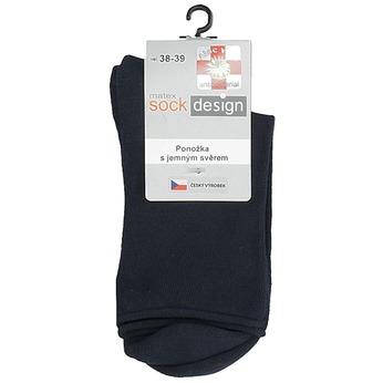 Dámské vysoké ponožky černé matex, modrá, 919-9311 - 13