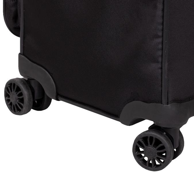 Velký textilní kufr na kolečkách roncato, černá, 969-6709 - 16