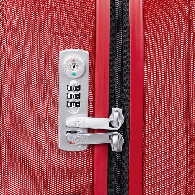 Červený skořepinový kufr na kolečkách velký roncato, červená, 960-5736 - 15