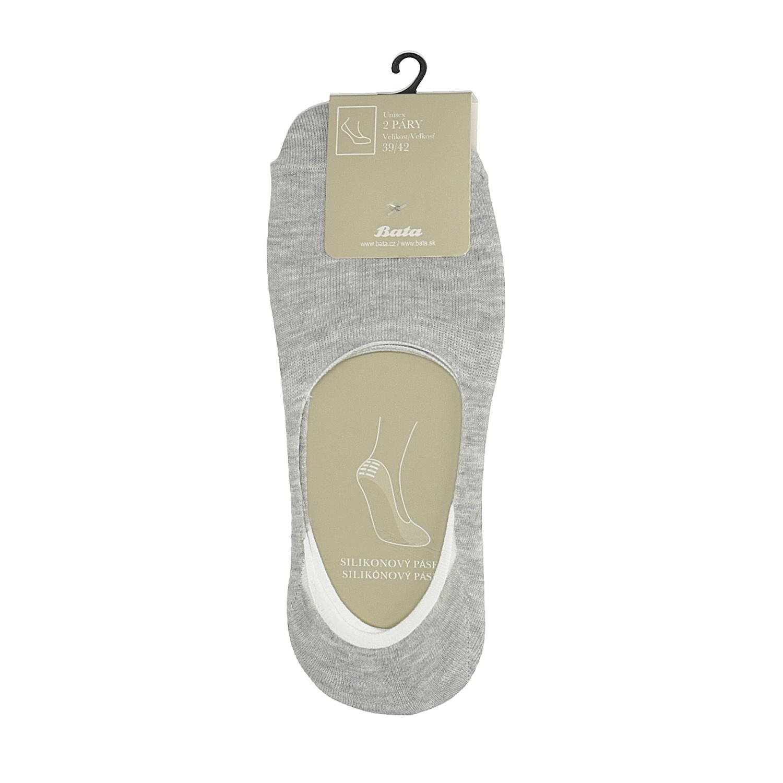 Baťa Nízké vykrojené ponožky šedé - Ponožky  15788b3cb6