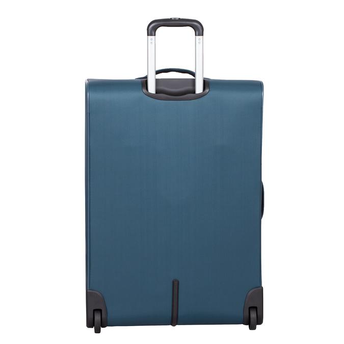 Tyrkysový textilní kufr na kolečkách roncato, modrá, 969-9720 - 26