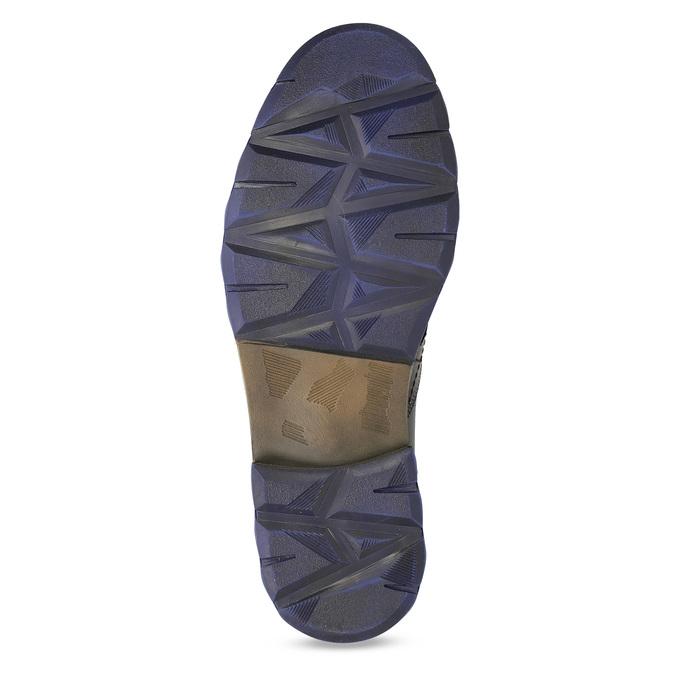 Pánská kožená kotníčková obuv se zipem bata, šedá, 896-2678 - 18