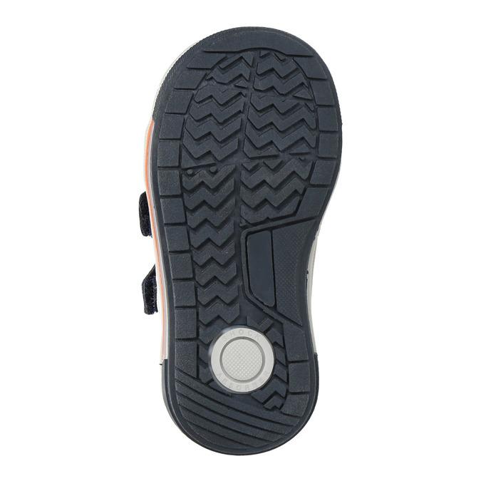 Dětské kožené boty na suché zipy bubblegummers, modrá, 116-9600 - 18