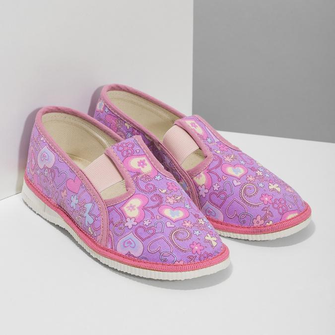 Růžové dětské přezůvky se vzorem bata, růžová, 279-5129 - 26