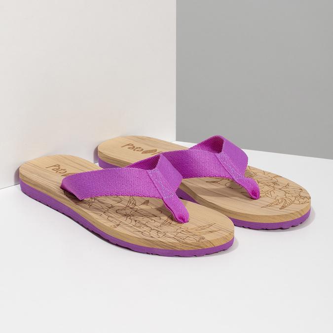 Dámské žabky fialové pata-pata, fialová, 579-5630 - 26