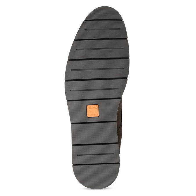 Pánská kotníčková kožená obuv hnědá flexible, hnědá, 823-4632 - 18