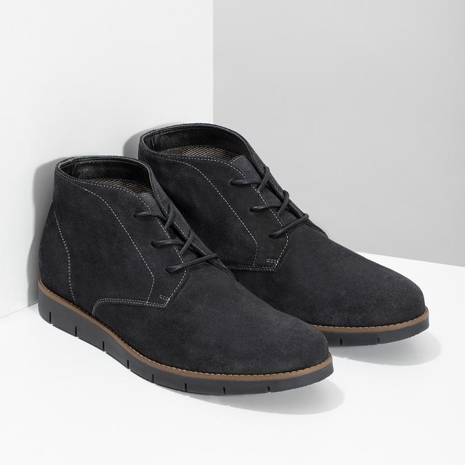 Pánská kotníčková kožená obuv modrá flexible, modrá, 823-2632 - 26