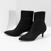 Černá kotníková obuv na kitten heel bata, černá, 699-6643 - 16