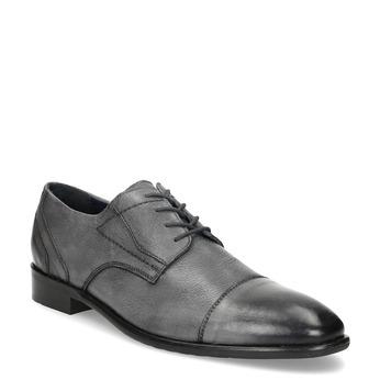 Kožené šedé pánské Derby polobotky bata, šedá, 826-2782 - 13