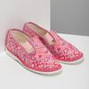 Růžové dívčí přezůvky se vzorem bata, růžová, 179-5213 - 26