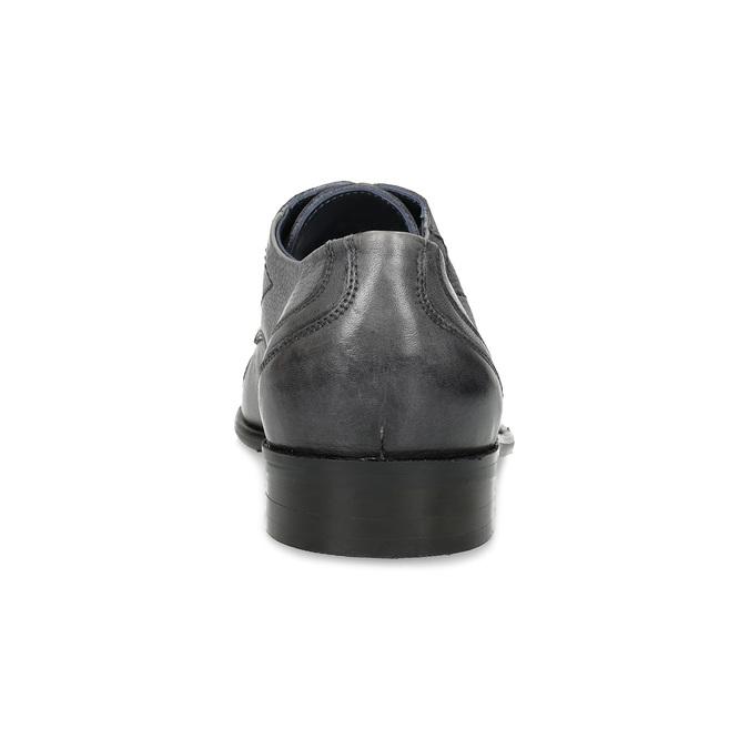 Kožené šedé pánské Derby polobotky bata, šedá, 826-2782 - 15