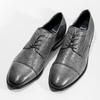 Kožené šedé pánské Derby polobotky bata, šedá, 826-2782 - 16