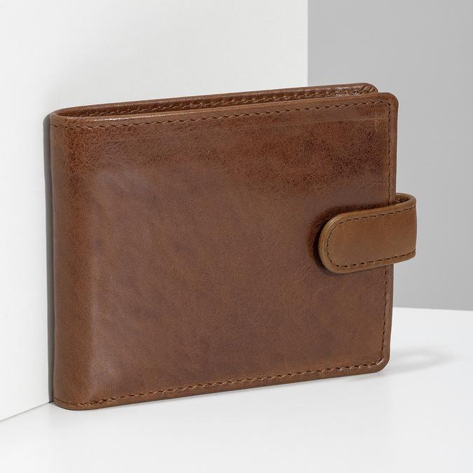 Pánská kožená peněženka hnědá bata, hnědá, 944-3202 - 17