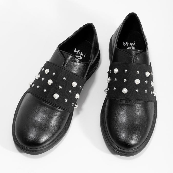 Dívčí polobotky s perličkami mini-b, černá, 321-6379 - 16