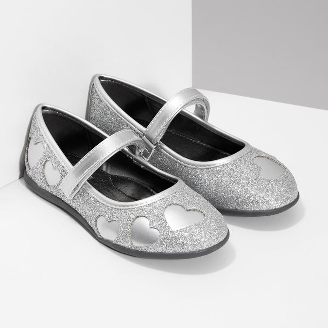 Dívčí baleríny se třpytkami mini-b, stříbrná, 229-2214 - 26